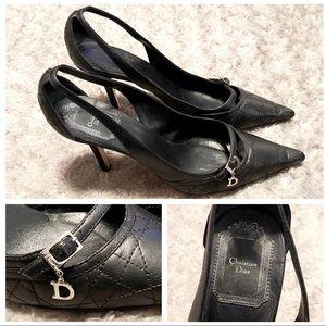 Christian Dior slingbacks paid $620 Size 38 1/2